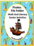 Pirate Activities, Math and Literacy, File Folder Games for Special Education