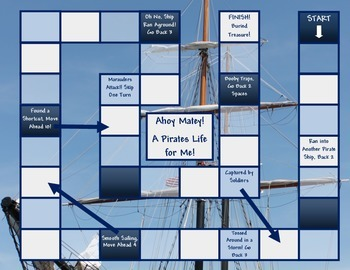 Pirates Game Board Template