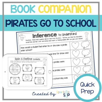 Pirates Go To School Speech and Language Quick Prep Book C