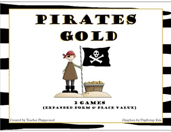 Pirates Gold Math Games: Place Value (2 games/5 Levels)