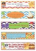 Pirates Growth Mindset Bookmarks, Shelf Markers or Desk Name Plates -EDITABLE