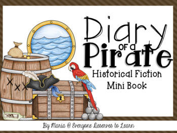 Pirates Historical Fiction Interactive Mini Book