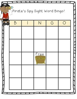 Pirate's Hunt: Sight Word Games!