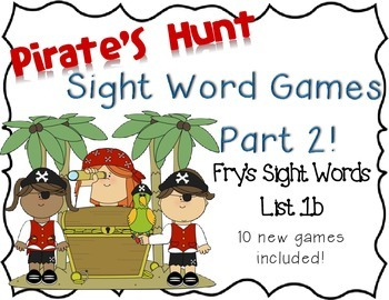 Pirate's Hunt: Sight Word Games 2!