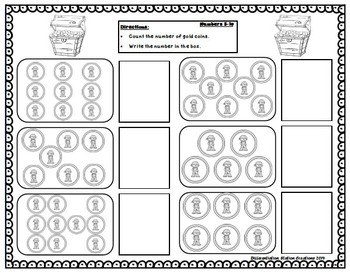 Pirates! Interactive Play Dough Mats, Counting Centers, Games, Printables