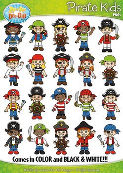 Pirates Kid Characters Clipart {Zip-A-Dee-Doo-Dah Designs}