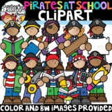 Pirates Kids at School Clipart {Pirate Clipart}