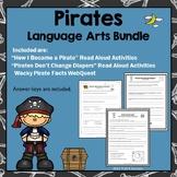 Pirate Activities Language Arts Read Aloud Bundle + Pirate Facts Webquest