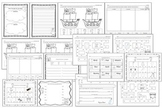 Pirates Language Arts Review Worksheets, Game, Mini-book