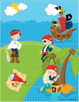 Pirates Language Building Activity (Scene 1)