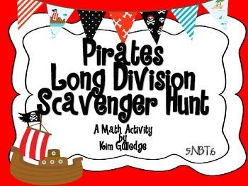 Pirates Long Division Scavenger Hunt - 5.NBT.6