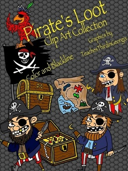 Pirate's Loot Clip Art Collection-Commercial Use-Upper Grades