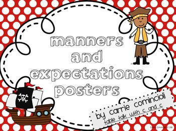 Pirates Manners and Expectations Posters