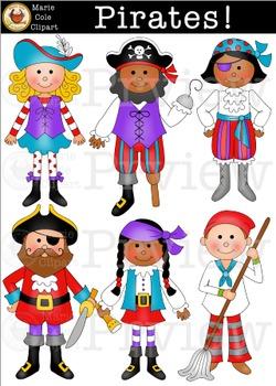 Pirates! [Marie Cole Clipart]