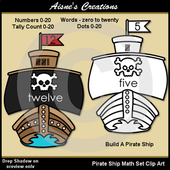 Pirates Math Set Clip Art