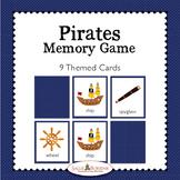 Pirates Memory Game - Pirate Theme Activity