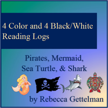 Pirates, Mermaid, Sea Turtle, and Shark Logs for Independent Reading--Color & BW