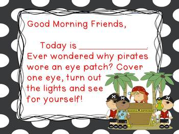 Pirates - Morning Messages