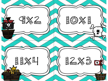 Pirates Multiply Single Digits! Task Cards for Math Centers