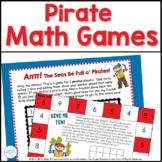 Pirate Math Games Bundle for Kindergarten and First Grade