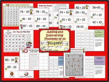 Pirate Math Games Bundle for Kindergarten and First Grade