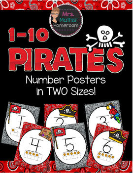 Pirates Number Posters FREEBIE