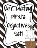 Pirates Objectives Set