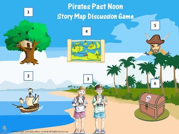 Pirates Past Noon (Book #4) Story Map Discussion Game
