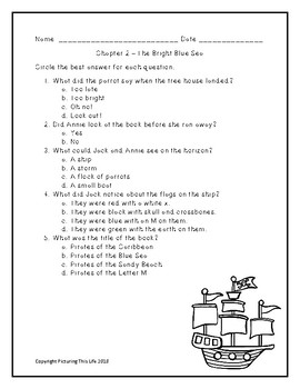 Pirates Past Noon Chapter Quizzes - Magic Tree House #4
