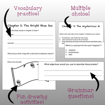 Pirates Past Noon Booklet Fun Activities+Free Word Cards!