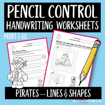 Pirates Pencil Tracking - Lines and Squares