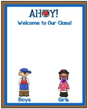 Pirates, Pirates, Pirates, Beginning of School Everything! August!