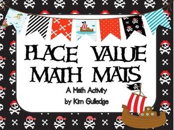 Pirates Place Value Math Mats - Includes Self-Check QR Codes
