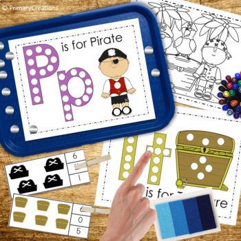 Pirates Preschool and PreK Literacy and Maths Activities