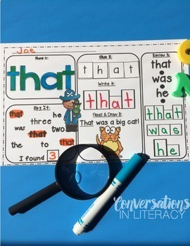 Primer Sight Word Activities Pirates Pack