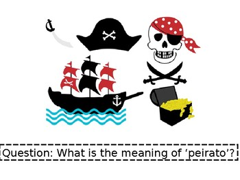 Pirates  - Question and Answer Activity Cards