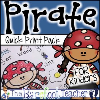 Pirate Quick Print Pack {Math & ELA Activity Sheets}