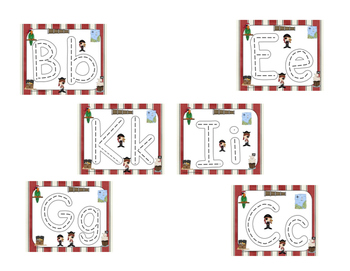 Pirates Race to Trace Alphabet Mats (Common Core)
