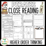 Pirates Close Reading Comprehension Passages and Questions