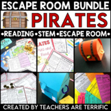 Pirates Reading and Escape Room Bundle