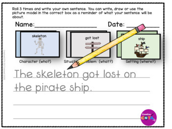 Pirates Roll and write a Sentence or Story