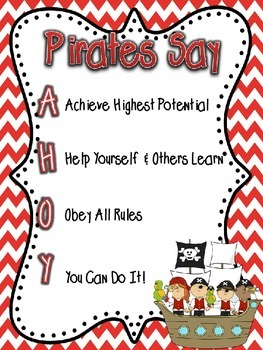 Pirates Say AHOY Guidelines and Rules Poster