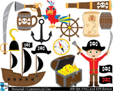 Pirates Set Clipart Digital Clip Art Graphics 30 images cod52