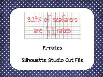 Pi Day 'Pirates' {Silhouette Cut File}