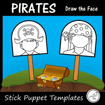 Pirates - Stick Puppet Templates
