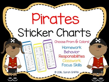 Pirates Sticker Charts