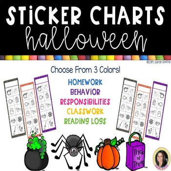 Halloween Sticker Charts