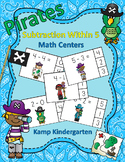 Pirates Subtraction Within 5 Math Centers