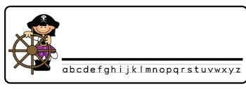 Pirates Theme Desk Nameplates (Set of Four)