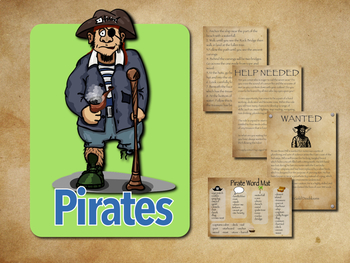 Pirates Themed 5 Day Creative Writing Unit - multi text type